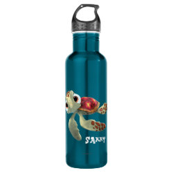 Water Bottle (24 oz) with Cute baby sea turtle Squirt of Finding Nemo design
