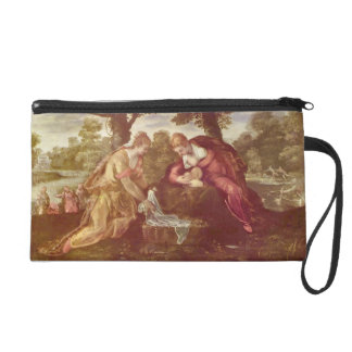Finding of Moses by Giovanni Battista Tiepolo Wristlet Purse