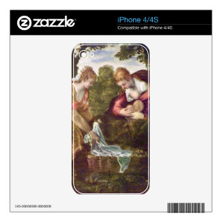 Finding of Moses by Tintoretto Decals For iPhone 4S