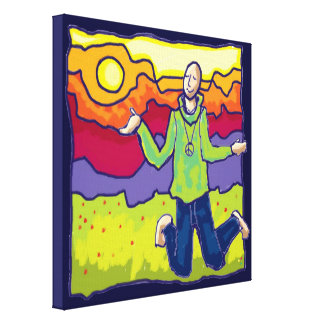 finding peace in nature canvas print