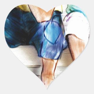 Finding Peace.jpg Heart Sticker