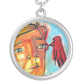Finding Solace Round Pendant Necklace