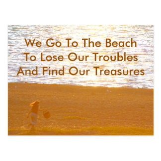 Finding Treasures  Beach Quote & Photography Post Cards