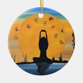 Finding your Zen Ceramic Ornament