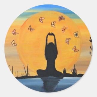 Finding your Zen Classic Round Sticker