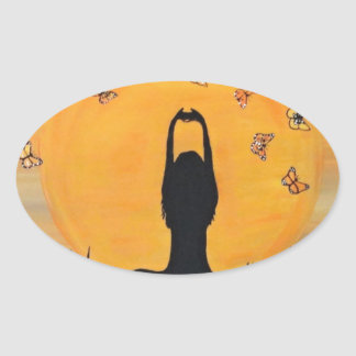 Finding your Zen Oval Sticker