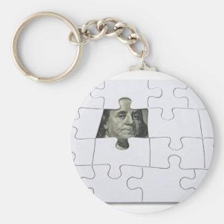 FindingMoney083010 Basic Round Button Keychain