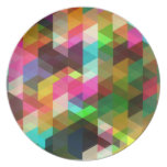 Fine Abstract Cool Cute Girly Retro Fashion Party Plate