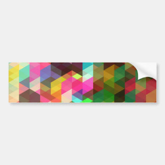 Fine Abstract Geometric Retro Fashion Bumper Sticker