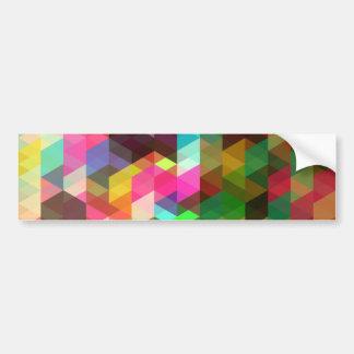 Fine Abstract Geometric Retro Fashion Car Bumper Sticker