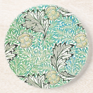 Fine Apple Vintage William Morris Wallpaper Sandstone Coaster