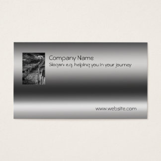 Fine Art - A Journey Made on metallic-effect Business Card