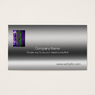 Fine art, Abstract Weir and Water - metallic-look Business Card