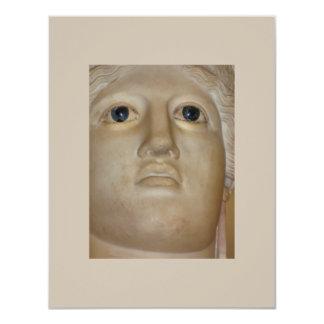 Fine Art Ancient Statue Roman Goddess 4.25x5.5 Paper Invitation Card