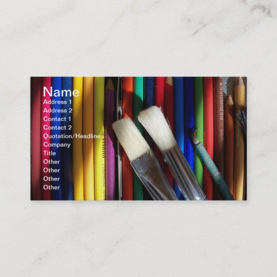 Fine art artist business card colored pencil art zazzle fine art artist business card colored pencil art colourmoves