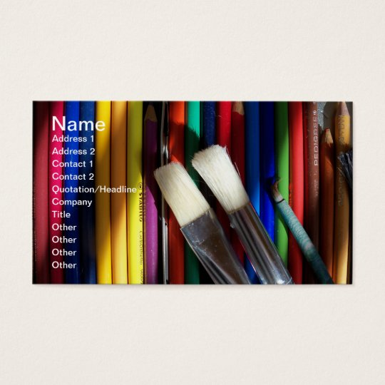 Fine Art Artist Business Card colored pencil art | Zazzle.com