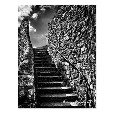 Fine Art, Barbican Steps, Plymouth Postcard