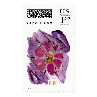 Fine art based Flower custom postage stamp