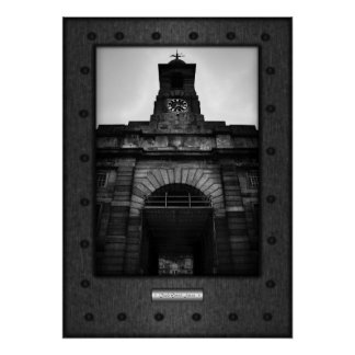 Fine Art, Bell Tower Arena, faux riveted steel Poster