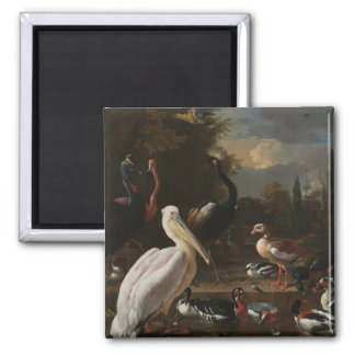 Fine art birds 2 inch square magnet