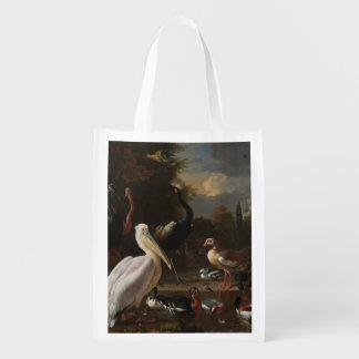 Fine art birds market totes