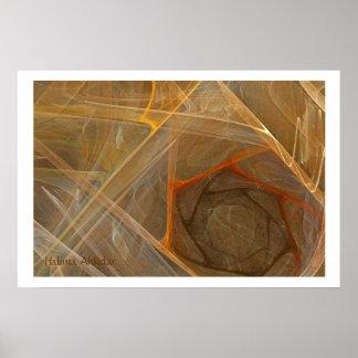fine art brown fractal, Halima Ahkdar Posters