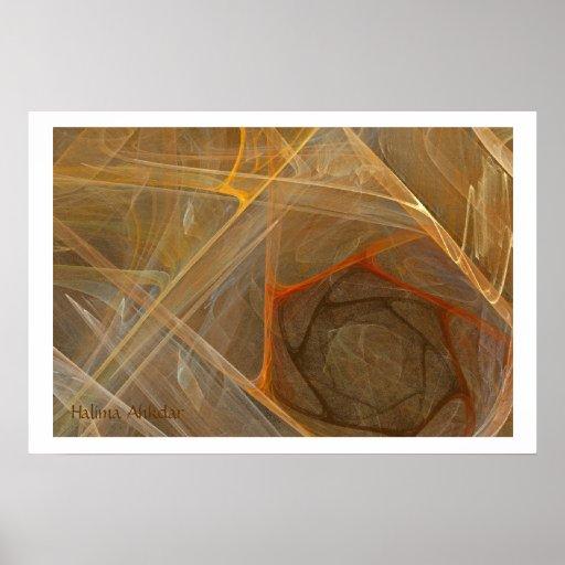 fine art brown fractal, Halima Ahkdar Poster