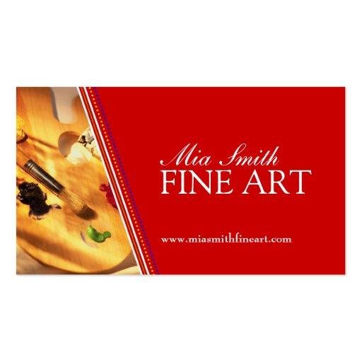 Custom Card Template art business cards : Fine Art - Business Cards : Zazzle