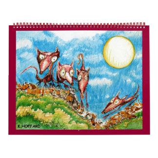 Fine Art by K. Hoffard Wall Calendar