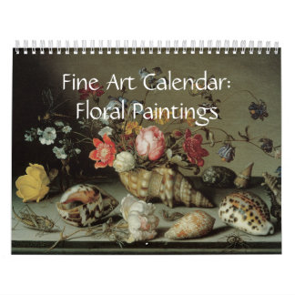 Fine Art Calendar Floral Paintings