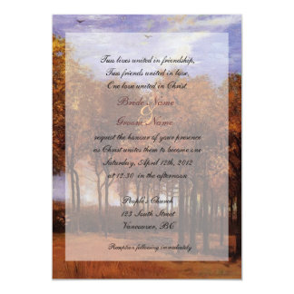 Fine art Christian fall wedding invitations