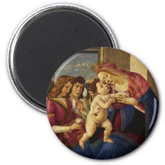 Fine Art  Christmas 2 Inch Round Magnet