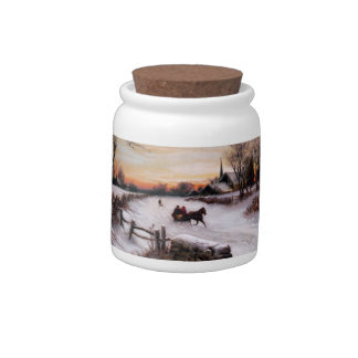 Fine Art Christmas Gift Candy Jars