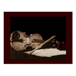 Fine Art Classic Violin Sweet Melondy Postcard