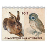 FINE ART COLLECTION  / Animal Drawings 2013 Wall Calendars