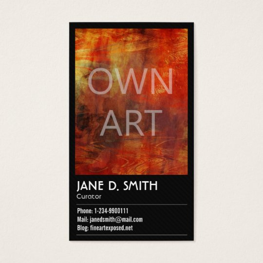 Fine Art Curator Business Card | Zazzle.com