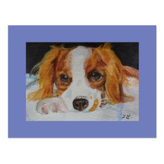 Fine Art Cute Puppy Postcard