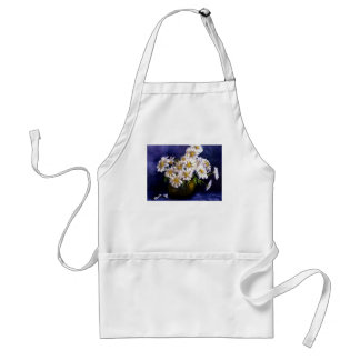 Fine Art Daisies in Purple Background Adult Apron