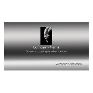 Fine Art Dartmoor Pony Portrait on metallic-effect Business Card