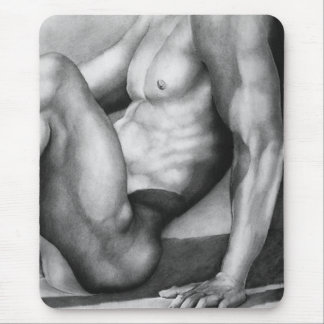 Fine Art Drawing Man Gay Pride Mouse Pad