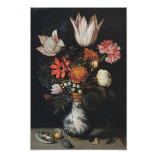 Fine Art Flower Arrangement Painting Poster