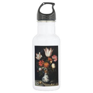 Fine Art Flower Painting Ambrosius Bo Stainless Steel Water Bottle