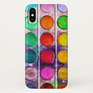 Fine Art Fun Colorful Paint Color Box iPhone X Case