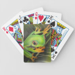 fine art green frog bicycle poker cards