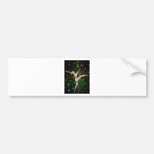 fine art,  gymnastics, dance & stars by TJ Conway Bumper Sticker