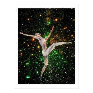 fine art,  gymnastics, dance & stars by TJ Conway Postcard