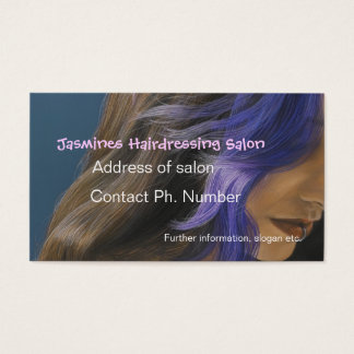 Fine Art Hairdressing salon Blue Business Cards