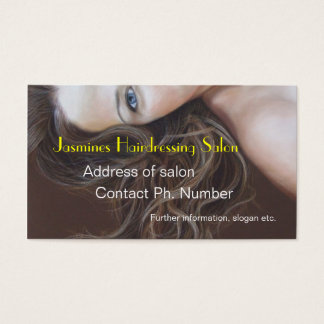Fine Art Hairdressing salon Business Cards