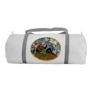 Fine Art Image for Duffel-Gym-Bag-White Duffle Bag