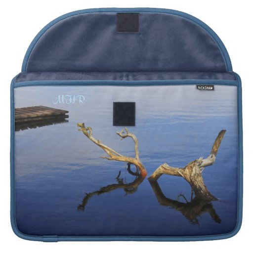 Fine Art: Lake's Edge Abstract Tranquility Sleeve For MacBooks